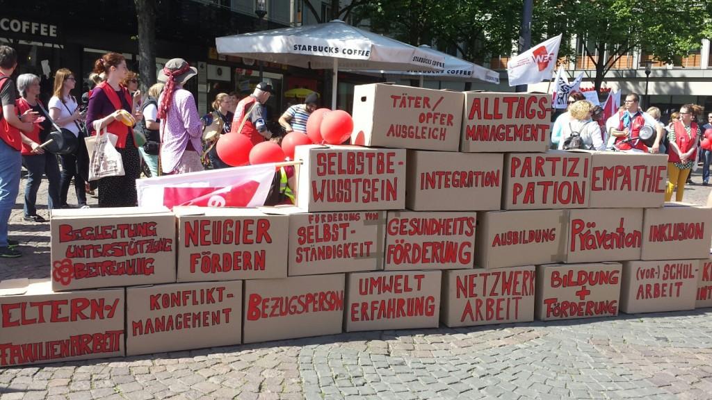 Streikkundgebung in Darmstadt. Quelle: ver.di - Südhessen