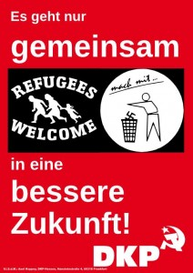 Plakat-Flüchtlinge