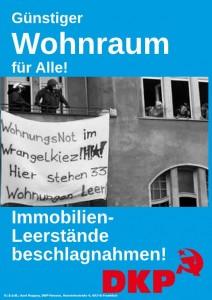 Plakat-Leerstand